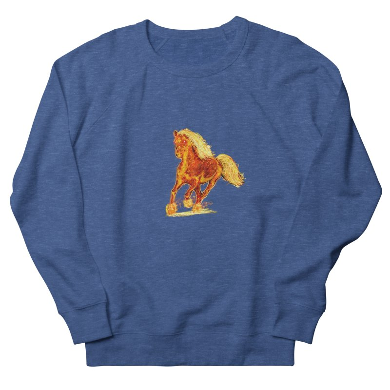 Flaming Horse Women's Sweatshirt by nicolekieferdesign's Artist Shop