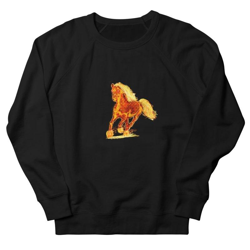 Flaming Horse Women's Sweatshirt by nicolekieferdesign's Artist Shop