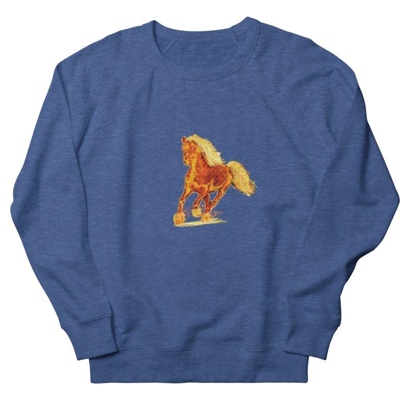Flaming Horse Men's Sweatshirt by nicolekieferdesign's Artist Shop