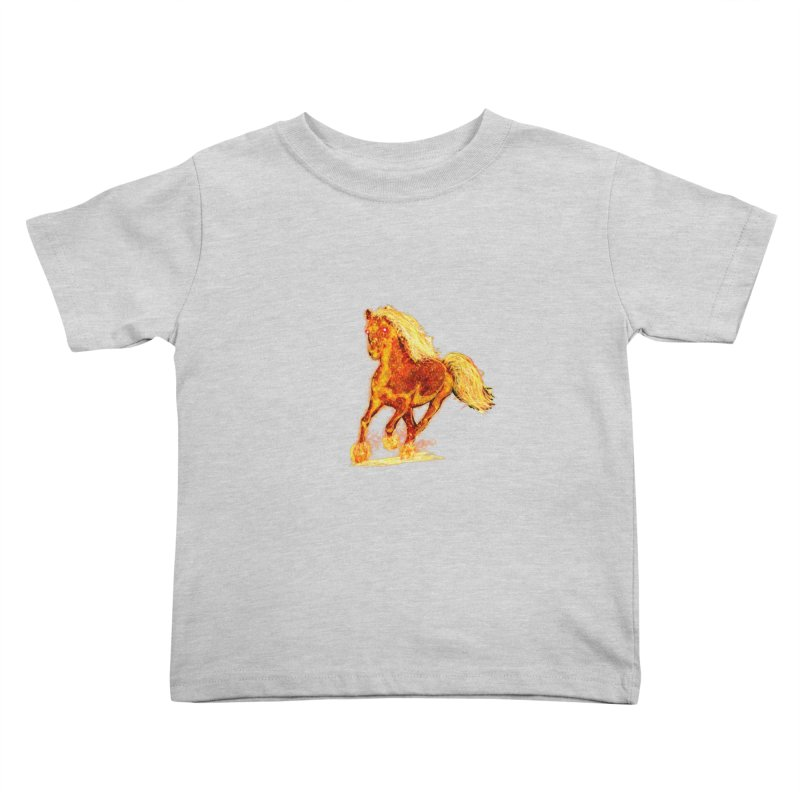 Flaming Horse Kids Toddler T-Shirt by nicolekieferdesign's Artist Shop