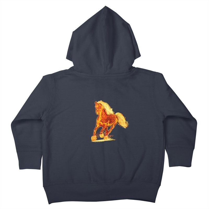 Flaming Horse Kids Toddler Zip-Up Hoody by nicolekieferdesign's Artist Shop