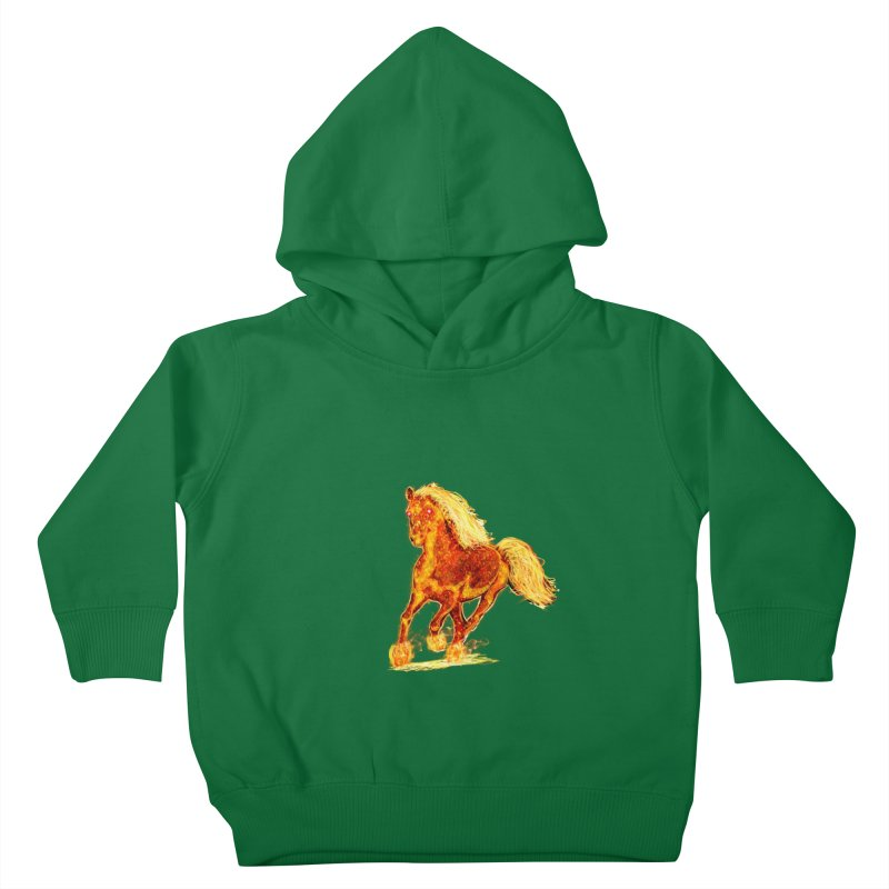 Flaming Horse Kids Toddler Pullover Hoody by nicolekieferdesign's Artist Shop