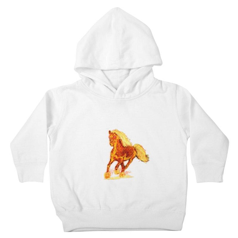 Flaming Horse Kids Toddler Pullover Hoody by nicolekieferdesign's Artist Shop