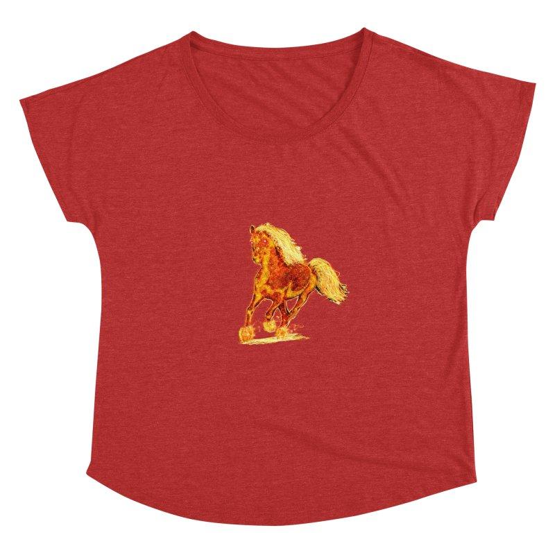 Flaming Horse Women's Dolman by nicolekieferdesign's Artist Shop