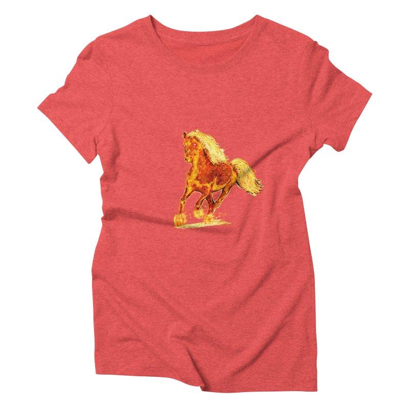 Flaming Horse Women's Triblend T-shirt by nicolekieferdesign's Artist Shop