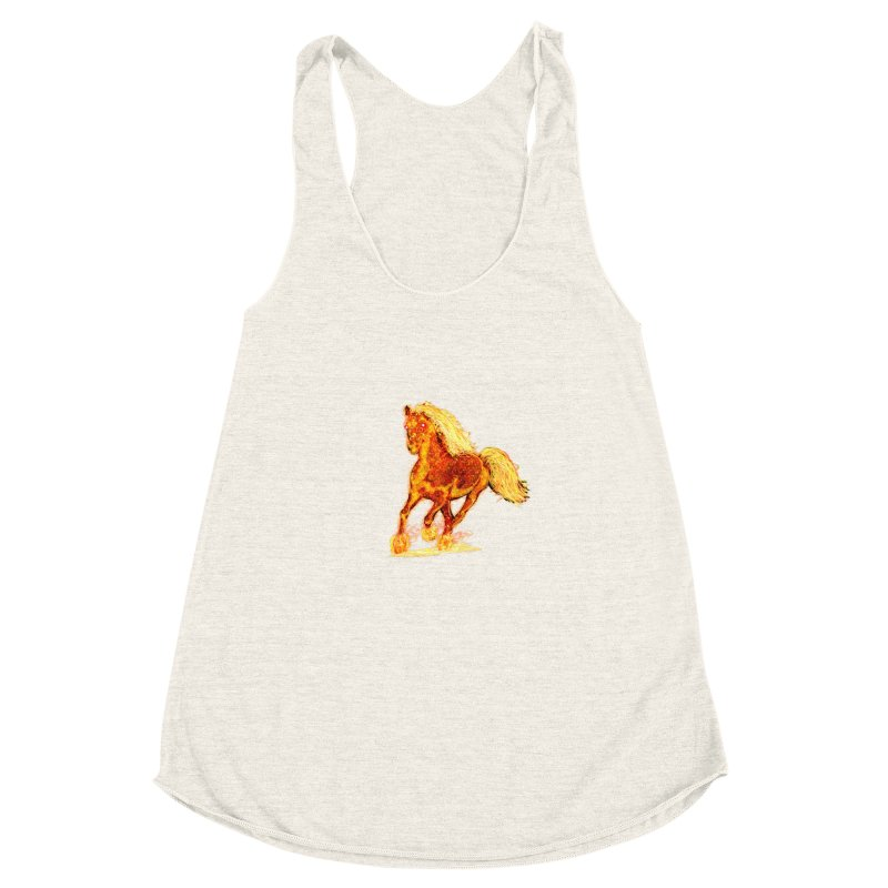 Flaming Horse Women's Racerback Triblend Tank by nicolekieferdesign's Artist Shop