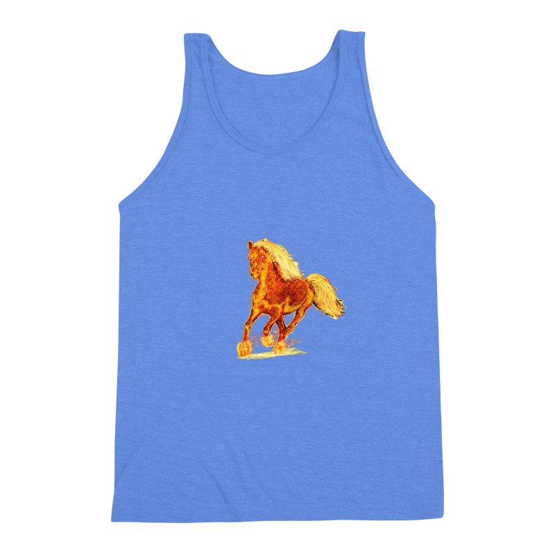 Flaming Horse Men's Triblend Tank by nicolekieferdesign's Artist Shop