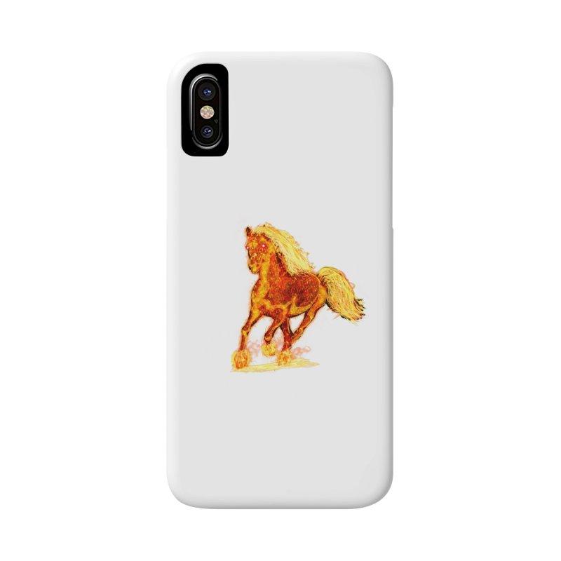 Flaming Horse Accessories Phone Case by nicolekieferdesign's Artist Shop