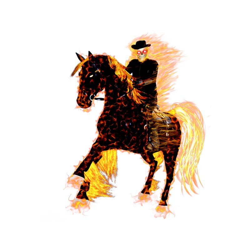 Ghost Rider on Horse by nicolekieferdesign's Artist Shop