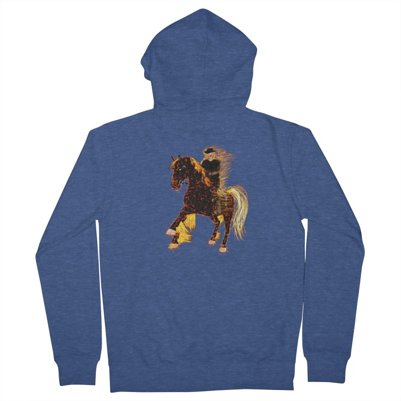 Ghost Rider on Horse Women's Zip-Up Hoody by nicolekieferdesign's Artist Shop