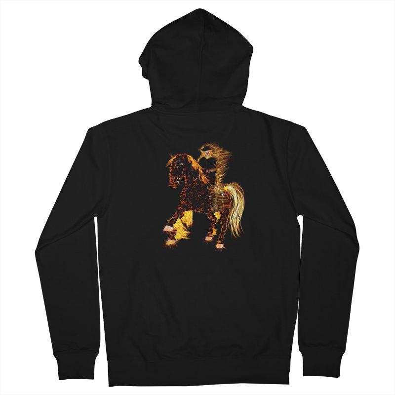 Ghost Rider on Horse Men's Zip-Up Hoody by nicolekieferdesign's Artist Shop