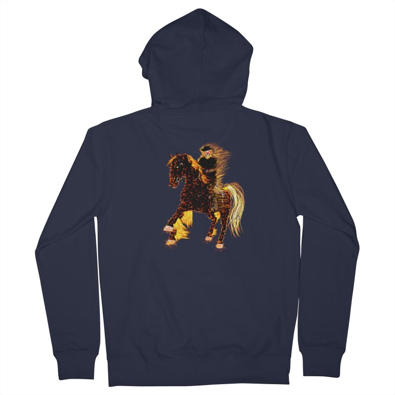 Ghost Rider on Horse Men's Zip-Up Hoody by nicolekieferdesign's Artist Shop