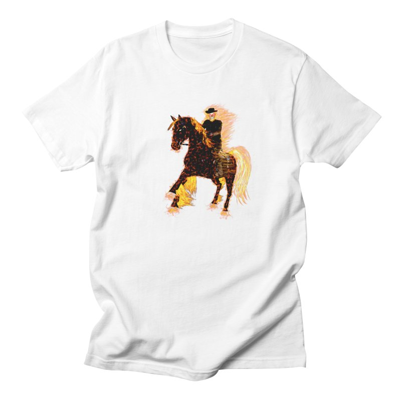 Ghost Rider on Horse Men's T-shirt by nicolekieferdesign's Artist Shop