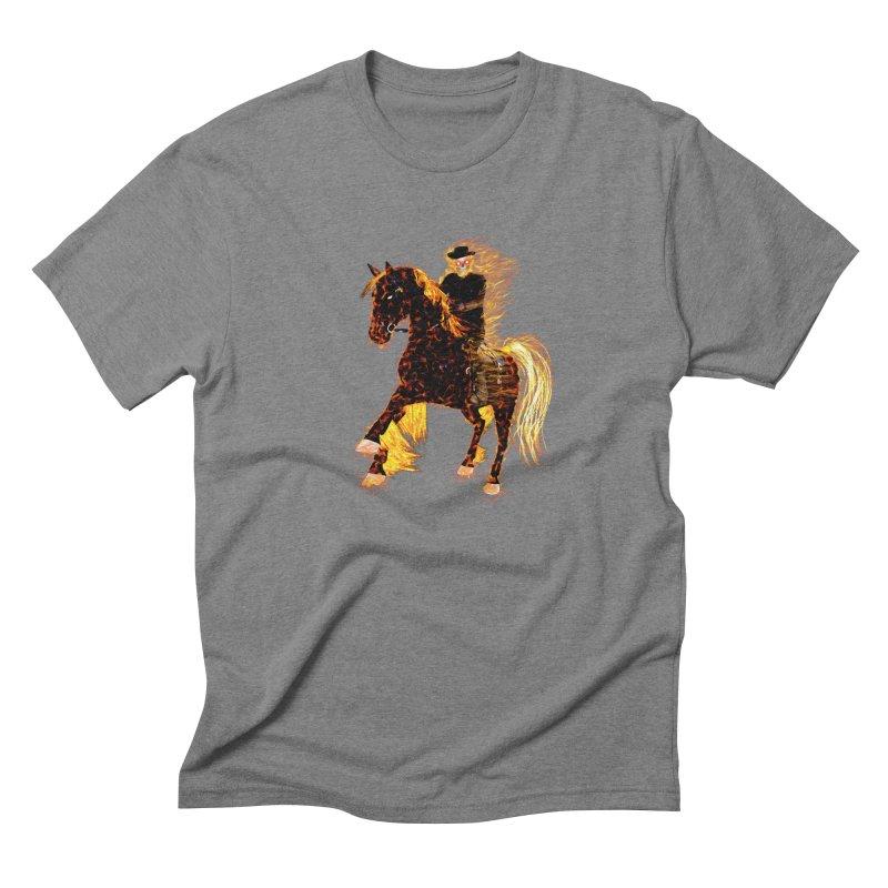 Ghost Rider on Horse Men's Triblend T-Shirt by nicolekieferdesign's Artist Shop