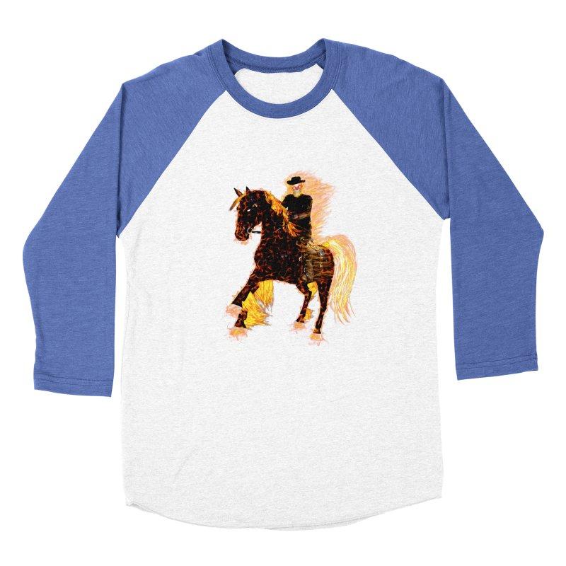 Ghost Rider on Horse Women's Baseball Triblend T-Shirt by nicolekieferdesign's Artist Shop