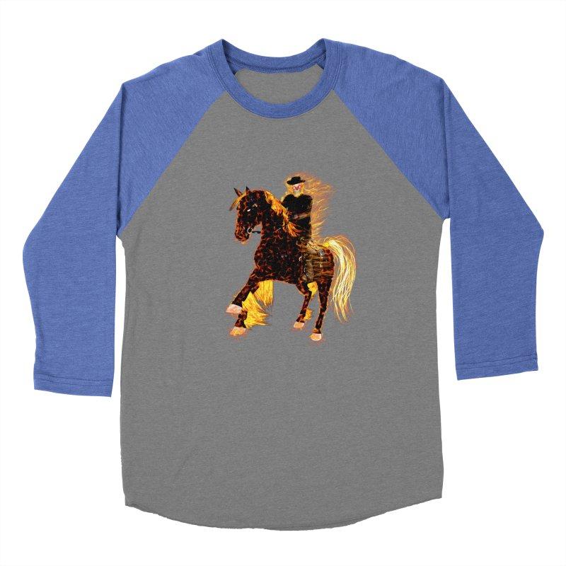 Ghost Rider on Horse Men's Baseball Triblend T-Shirt by nicolekieferdesign's Artist Shop