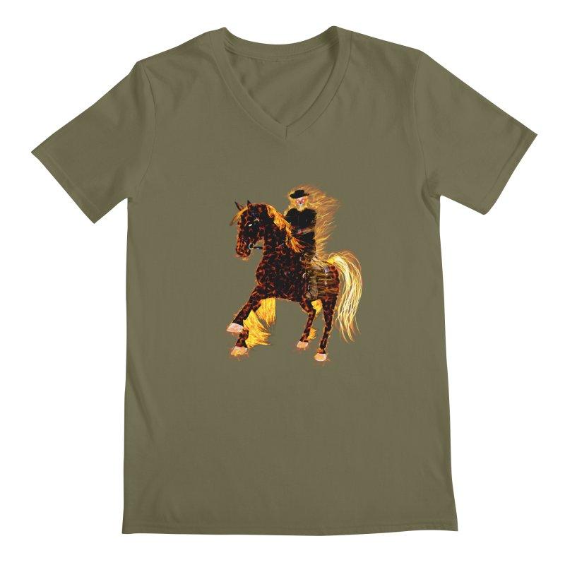 Ghost Rider on Horse Men's V-Neck by nicolekieferdesign's Artist Shop