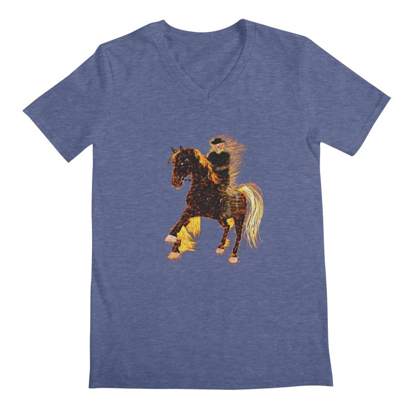 Ghost Rider on Horse Men's V-Neck by nicolekieferdesign's Artist Shop