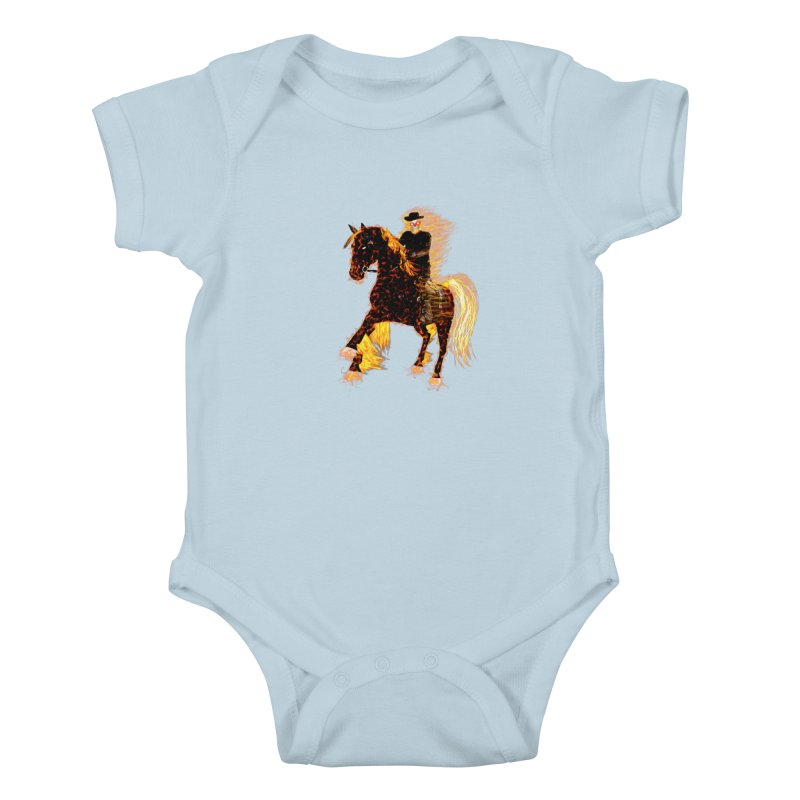 Ghost Rider on Horse Kids Baby Bodysuit by nicolekieferdesign's Artist Shop