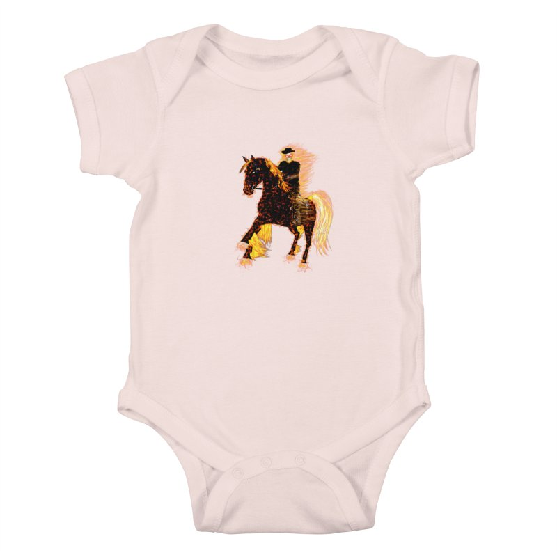 Ghost Rider on Horse Kids Baby Bodysuit by nicolekieferdesign's Artist Shop