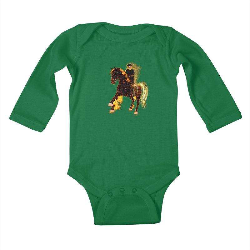 Ghost Rider on Horse Kids Baby Longsleeve Bodysuit by nicolekieferdesign's Artist Shop