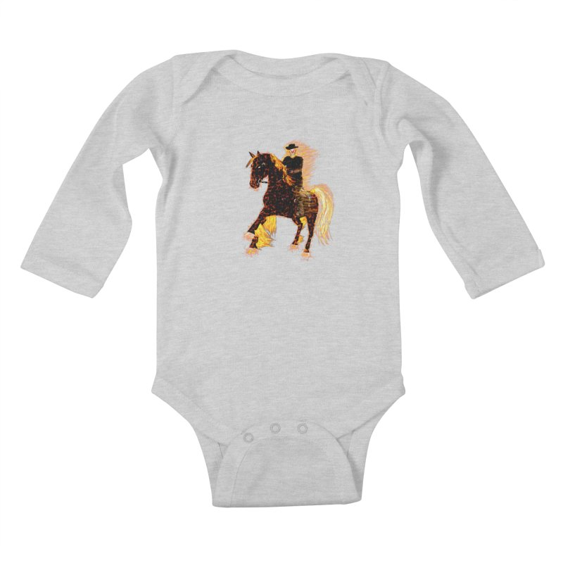Ghost Rider on Horse Kids Baby Longsleeve Bodysuit by nicolekieferdesign's Artist Shop