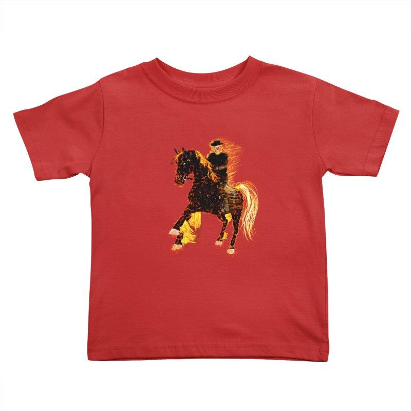 Ghost Rider on Horse Kids Toddler T-Shirt by nicolekieferdesign's Artist Shop