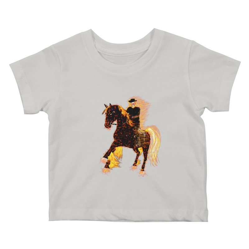 Ghost Rider on Horse Kids Baby T-Shirt by nicolekieferdesign's Artist Shop