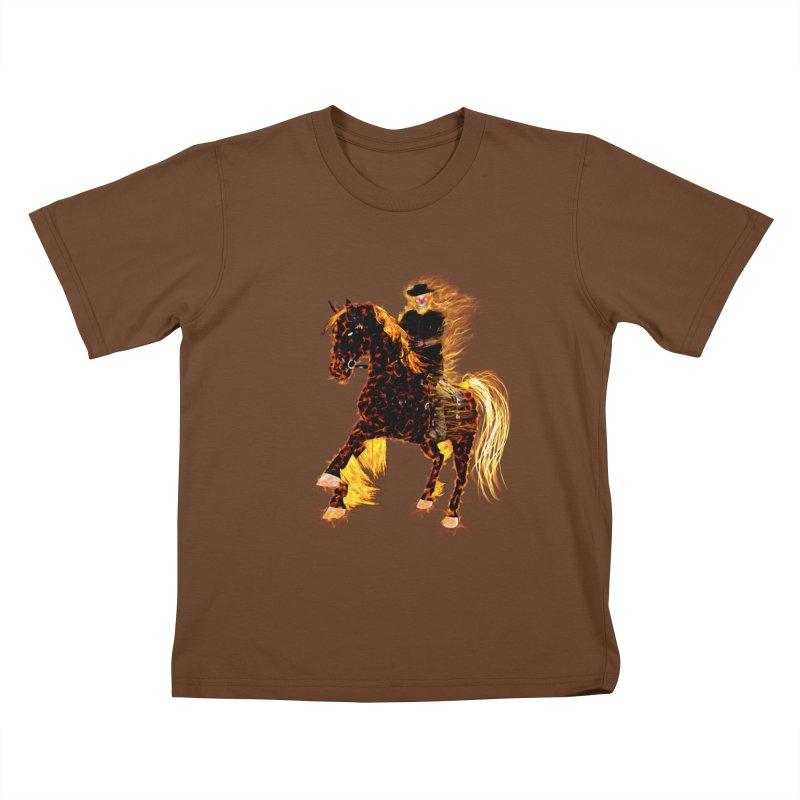 Ghost Rider on Horse Kids T-shirt by nicolekieferdesign's Artist Shop