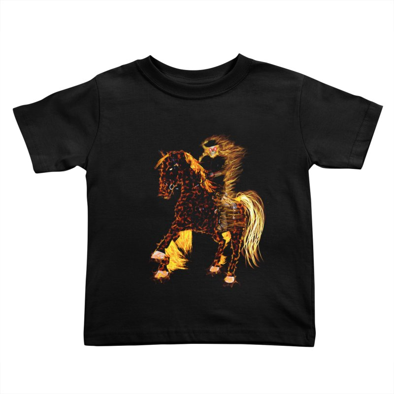 Ghost Rider on Horse Kids Toddler T-Shirt by nicolekieferdesign's Artist Shop