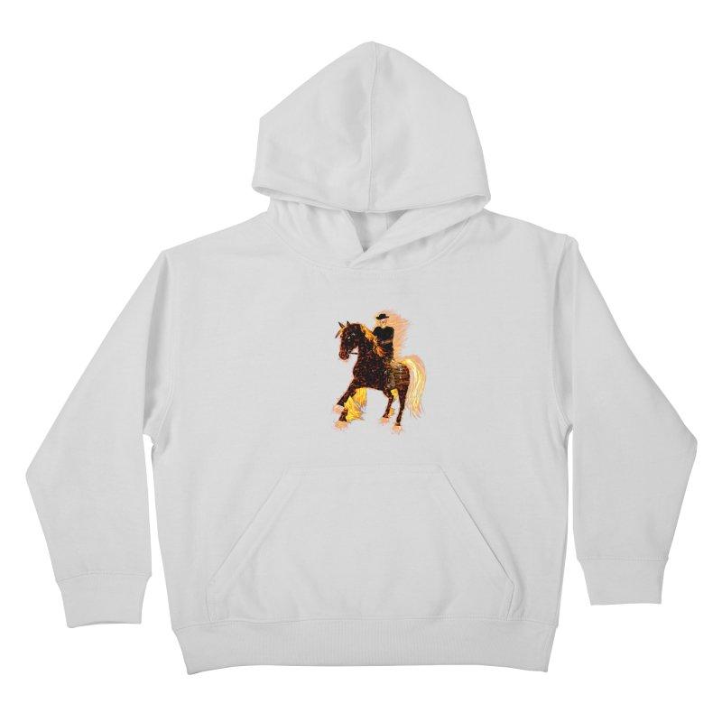 Ghost Rider on Horse Kids Pullover Hoody by nicolekieferdesign's Artist Shop