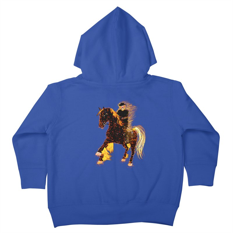 Ghost Rider on Horse Kids Toddler Zip-Up Hoody by nicolekieferdesign's Artist Shop
