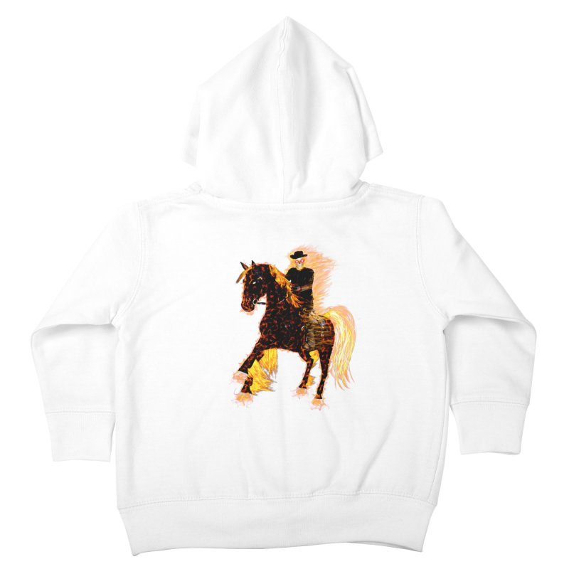 Ghost Rider on Horse Kids Toddler Zip-Up Hoody by nicolekieferdesign's Artist Shop