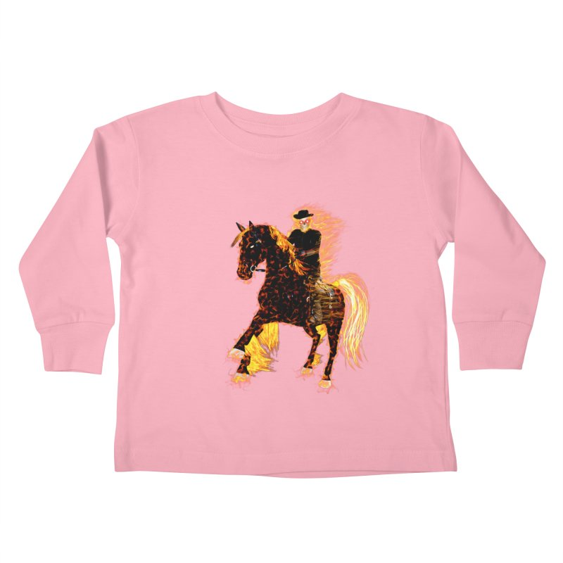 Ghost Rider on Horse Kids Toddler Longsleeve T-Shirt by nicolekieferdesign's Artist Shop