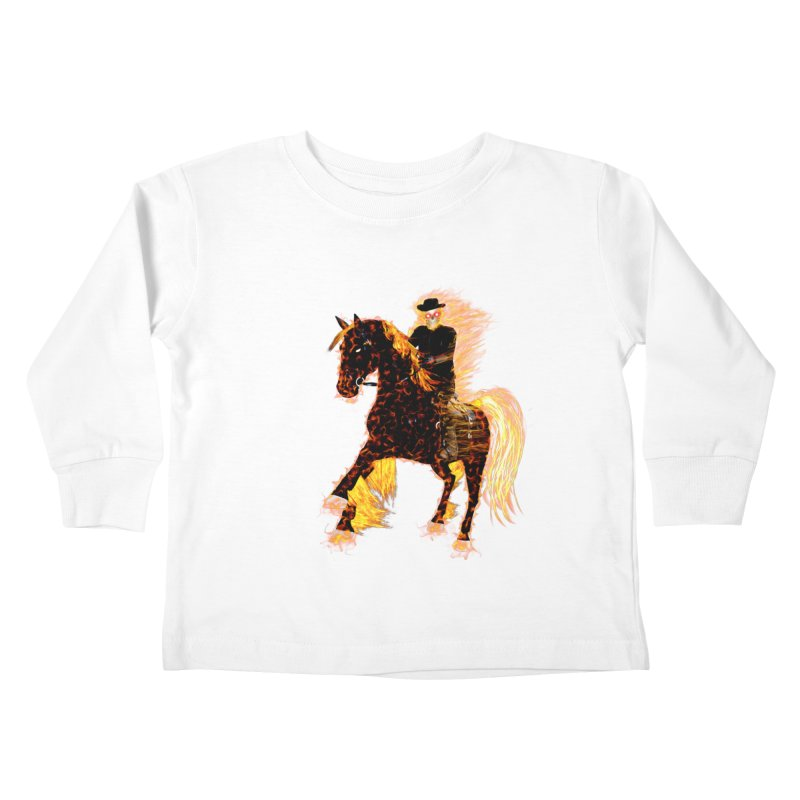 Ghost Rider on Horse Kids Toddler Longsleeve T-Shirt by nicolekieferdesign's Artist Shop
