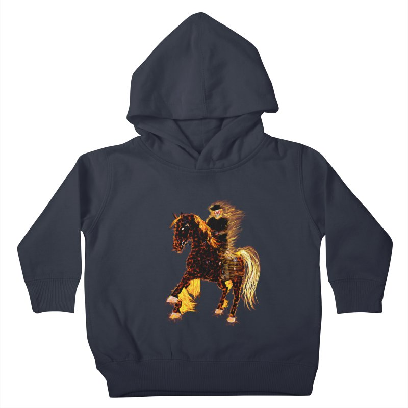 Ghost Rider on Horse Kids Toddler Pullover Hoody by nicolekieferdesign's Artist Shop