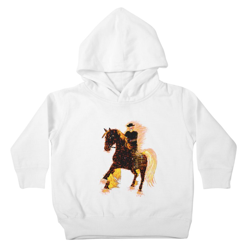 Ghost Rider on Horse Kids Toddler Pullover Hoody by nicolekieferdesign's Artist Shop