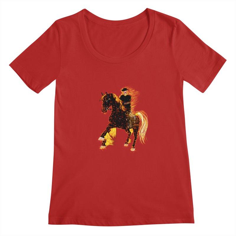 Ghost Rider on Horse Women's Scoopneck by nicolekieferdesign's Artist Shop