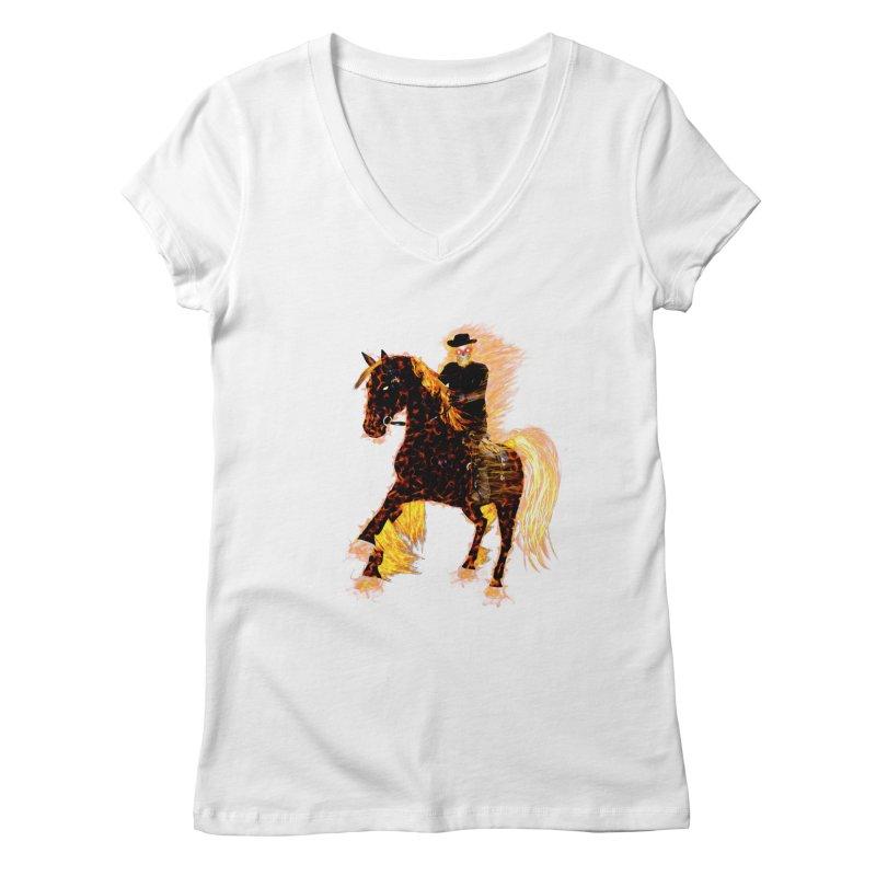 Ghost Rider on Horse Women's V-Neck by nicolekieferdesign's Artist Shop