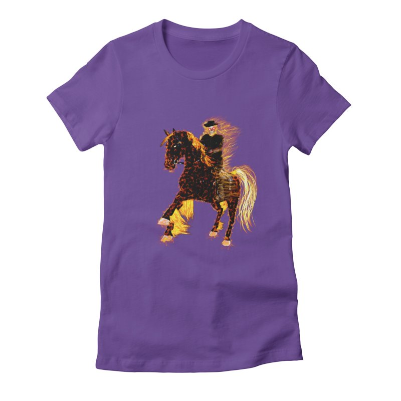 Ghost Rider on Horse Women's Fitted T-Shirt by nicolekieferdesign's Artist Shop