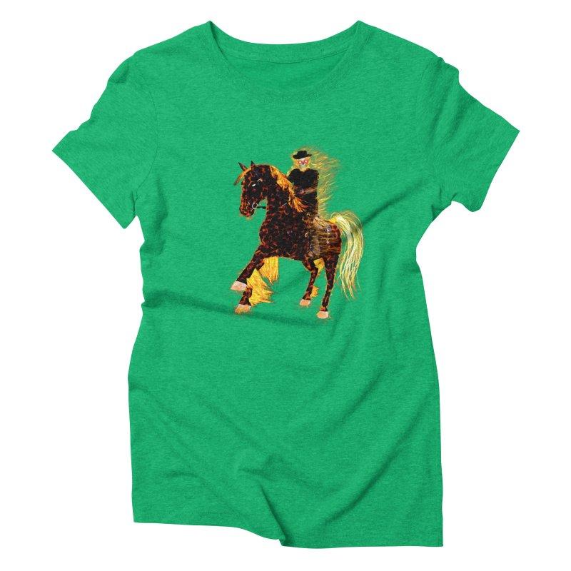 Ghost Rider on Horse Women's Triblend T-shirt by nicolekieferdesign's Artist Shop