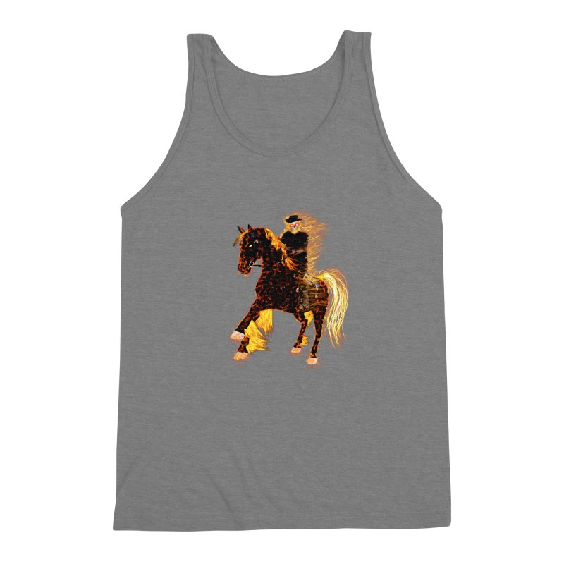 Ghost Rider on Horse Men's Triblend Tank by nicolekieferdesign's Artist Shop