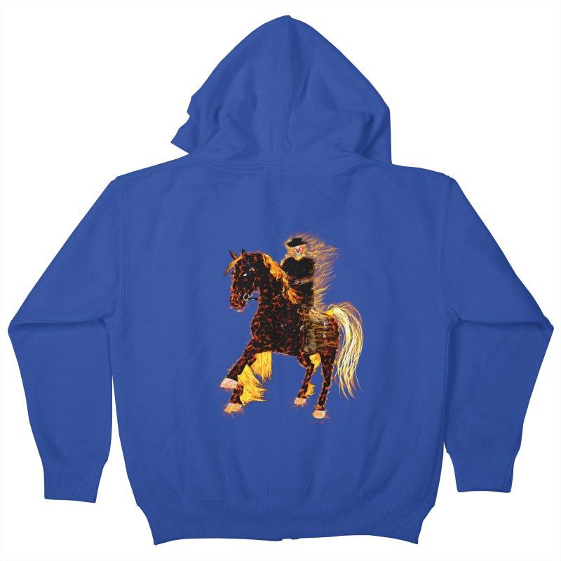 Ghost Rider on Horse Kids Zip-Up Hoody by nicolekieferdesign's Artist Shop