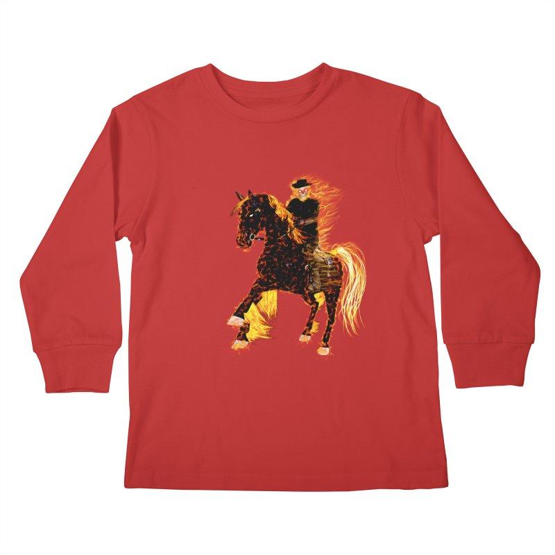 Ghost Rider on Horse Kids Longsleeve T-Shirt by nicolekieferdesign's Artist Shop
