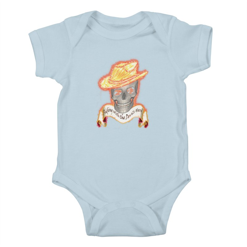 The Devils herd Kids Baby Bodysuit by nicolekieferdesign's Artist Shop