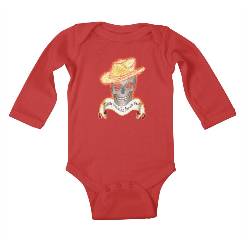 The Devils herd Kids Baby Longsleeve Bodysuit by nicolekieferdesign's Artist Shop