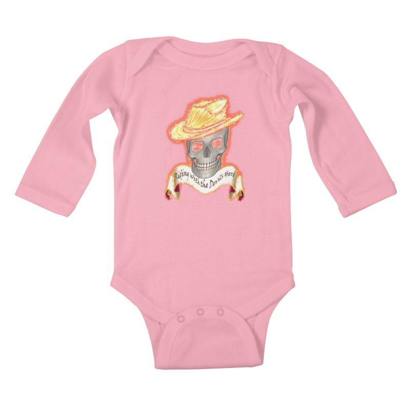The Devils herd Kids Baby Longsleeve Bodysuit by nicolekieferdesign's Artist Shop