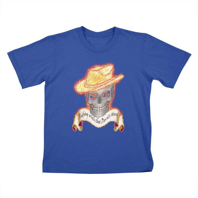 The Devils herd Kids T-Shirt by nicolekieferdesign's Artist Shop
