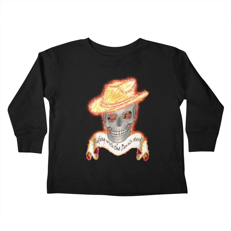 The Devils herd Kids Toddler Longsleeve T-Shirt by nicolekieferdesign's Artist Shop