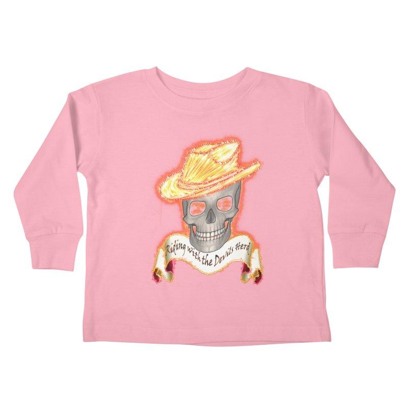 The Devils herd Kids Toddler Longsleeve T-Shirt by nicolekieferdesign's Artist Shop